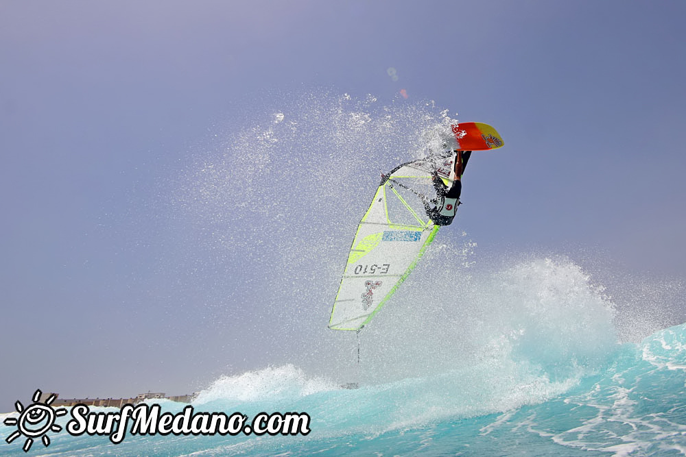 Wave windsurfing at EL Cabezo in El Medano Tenerife