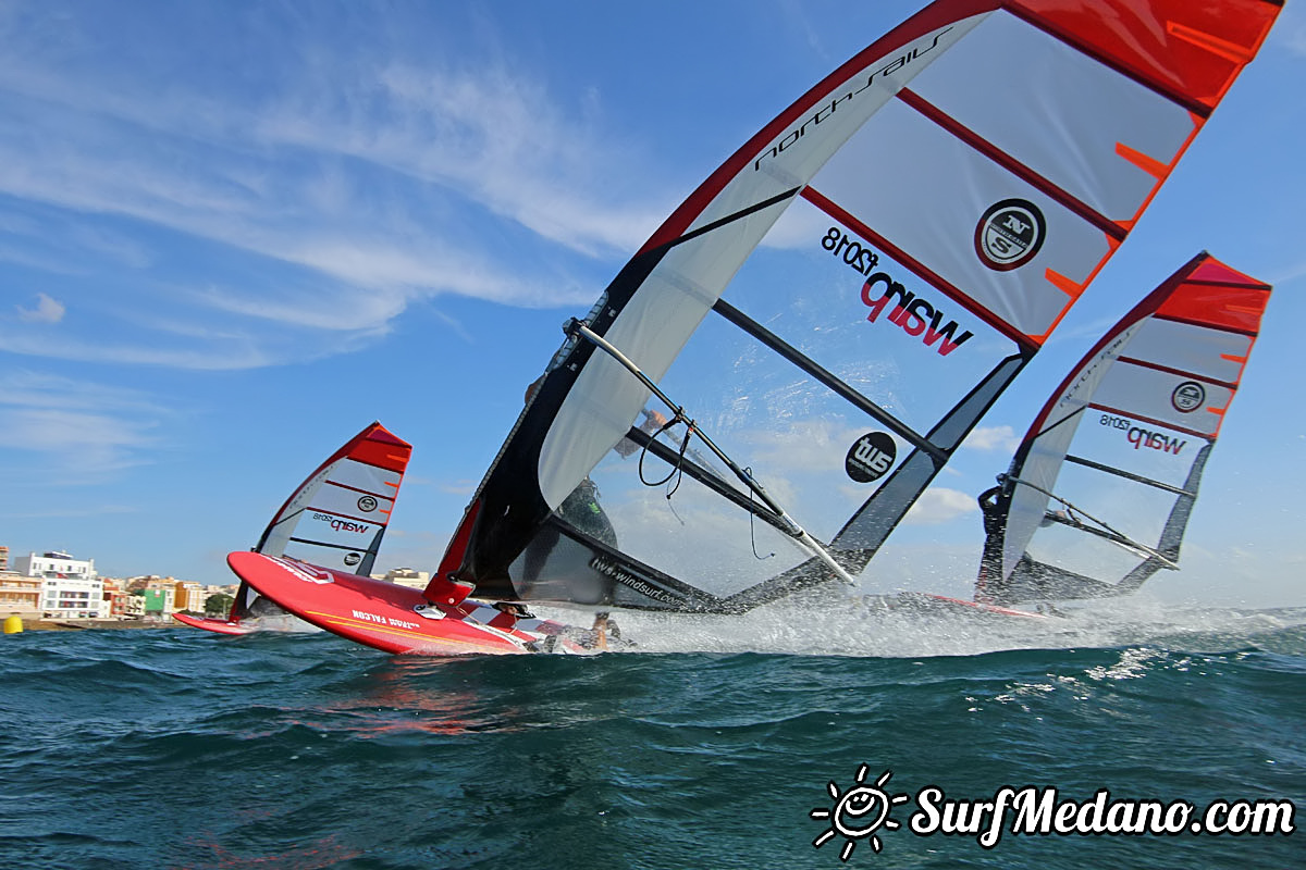 slalom windsurfing at TWS in El Medano Tenerife